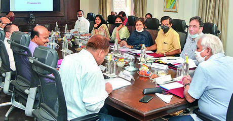 CEC Sunil Arora during the review meeting of Election Department in Jaipur on Wednesday